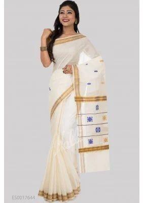 f1e78d9d80 Off White Kerala Cotton Saree at Rs 939 | Chennai | ID: 13647870562