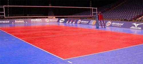 Volleyball court flooring indoor volleyball court for Sport court cost per square foot
