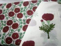 Hand Block Printed Cotton Dress Material Fabric