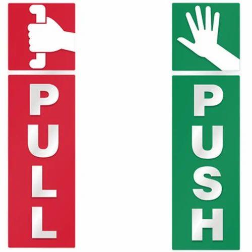 acrylic push pull sign board acrylic sign board sai advertisers