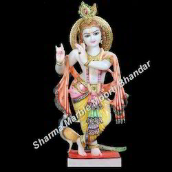 Jaipurcrafts Hindu Marble Krishna Statue, for Temple and Home
