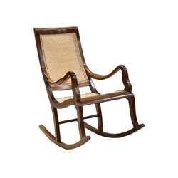 Brown Rosewood Rocking Chair
