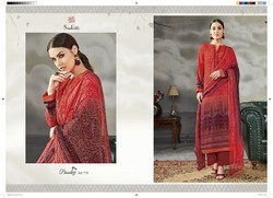 Sudriti Bandhej Cotton Satin Fancy Bandhani Salwar Kameez