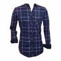 Men Purple Modern Check Shirt