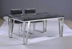 SS Four Seating Dining Table