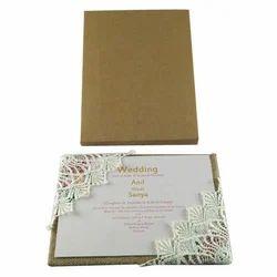 Box Invite Cardboard Marriage invitation Floral Card
