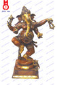 Sq. Base Dancing Lord Ganesh Statue