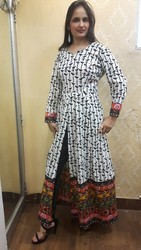 All Printed Anarkali Ethnic Kurti