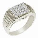 SHRI0599 Men's Silver Cz Ring