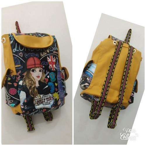 Yellow+black School Bag