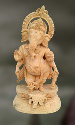 Wood Sculpture Of Lord Ganesha