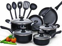 Round No Stick Nonstick Cookware Set