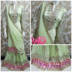 Gota Patti Green Suit