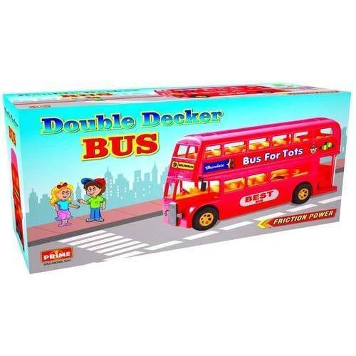 Plastic Double Decker Bus Friction Kids Toy