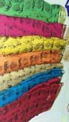 Pure Chiffon Zari Border Print Fabrics