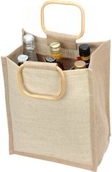 Plain Jute Wine Bottle Bag