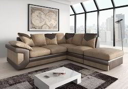Wooden, Foam Modern 4 Seater L Shaped Sofa Set, Living Room