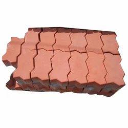 Red Concrete Interlocking Paver Block