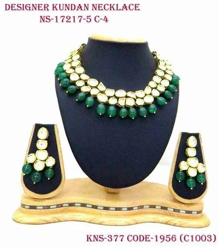 efc7e787b759d Party Wear Vilandi Kundan Necklace Set, Shubham Creations | ID ...