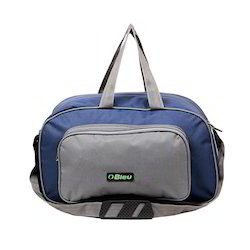 Blue and Grey Duffel Bags