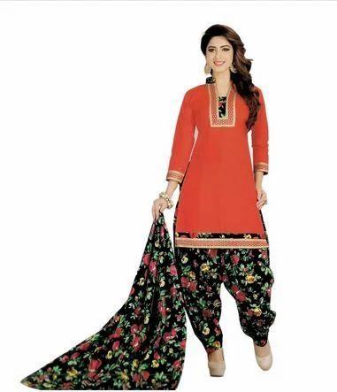 9254a6b7b4 Cotton Printed Patiala Salwar Suit, Punjabi Salwar Kameez ...