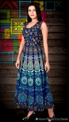 Cotton Half Sleeve Digital Printed Jaipuri Kurtis