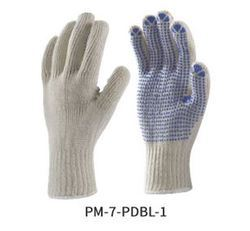 Poly Knitted Seamless Gloves with PVC Dots