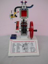 Four Stroke Petrol Engine Engineering Model