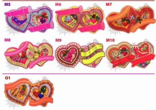 Multicolor Thermocol Wedding Name Board Kadar Bhai Haar Wala Id