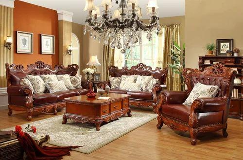 Classic Style Mahogany Sofa Set - India Wood Factory ...