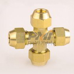 Brass Flare Cross Fitting