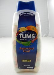 Tums Extra Strengt Assorted fruit 330 Tablets (Pack of 50)