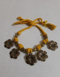 Oxdised German Yellow Threaded Neckpiece