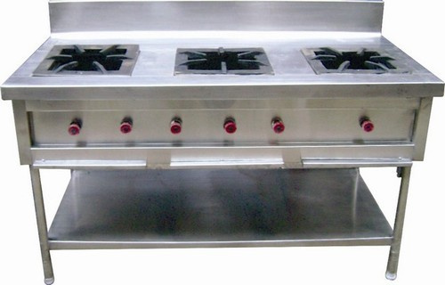 3 Burner Commercial Gas Stove Commercial Kitchen Equipment