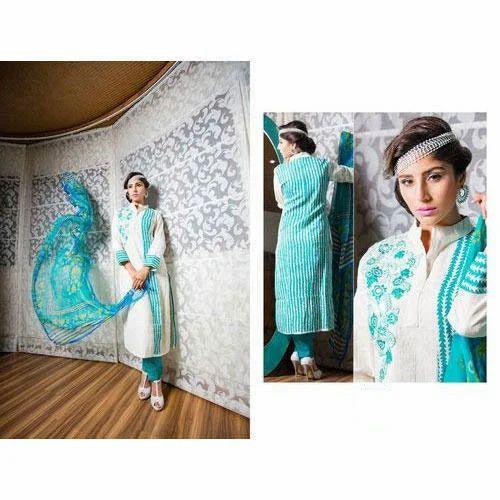 b3c7583c49 Designer Silk Cotton Suit at Rs 1500 /piece(s) | Silk Salwar Kameez ...
