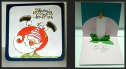 Christmas Pop Up Candle Card