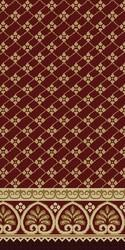Red Al Ansar Carpet Masjid Carpet, Size: 4x100 feet
