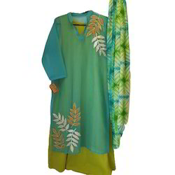 Cotton Double Layered Embroidered Suit