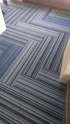 Tile Carpet In Plank Look