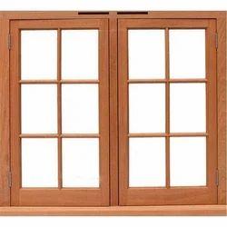 Brown Solid Wooden Window