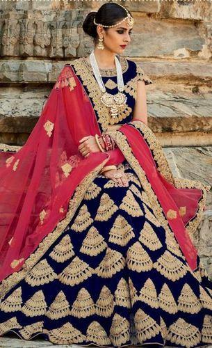c8bfc6947c Blue Designer Bridal Lehenga, Lehengas - Vinayak Online Marketing ...