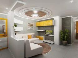 Living Room Interior Ceiling Design Service in Ghorpadi Pune