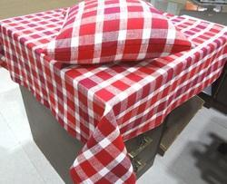 Red Designer Table Cloth