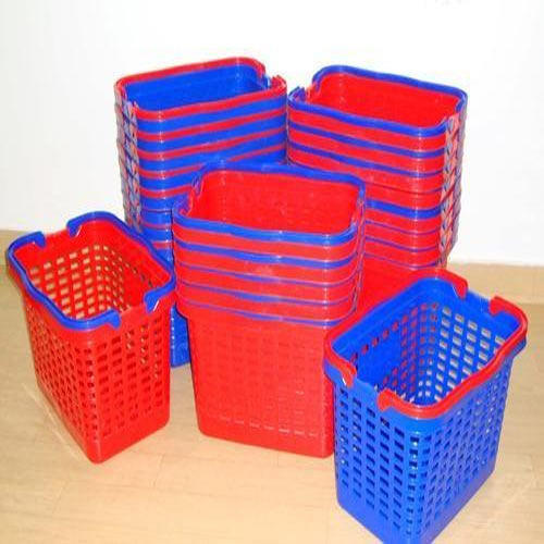 Red, Blue Economy Shopping Basket