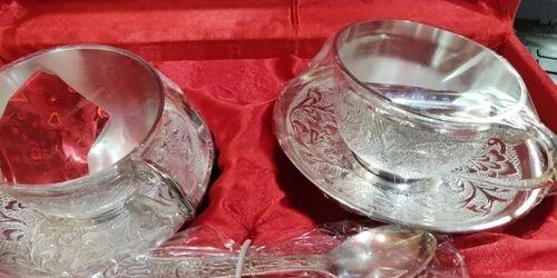 Brass Rawsome Shack German Silver Cup Plate