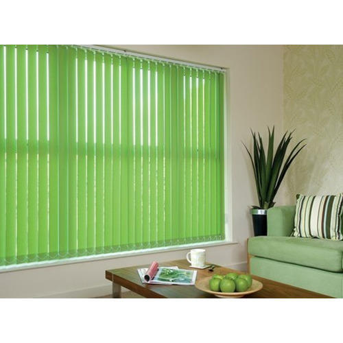 Green Vertical Window Blind
