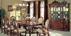 Elegant Wooden Dining Table Set