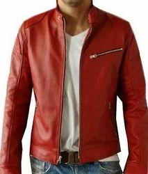 V4m Red Biker Genuine Leather Jacket