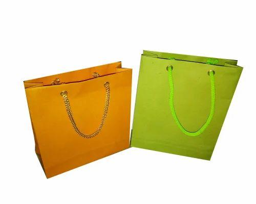 Handmade Paper Gift Bag Printed Handmade Paper Bag Manufacturer
