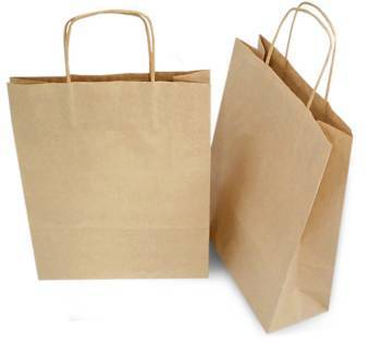 Brown Kraft Paper Bags With Twisted